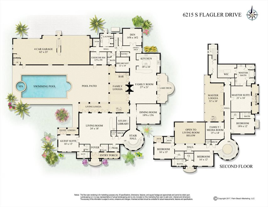 South Florida Real Estate | View 6215 South Flagler Drive | Floorplan