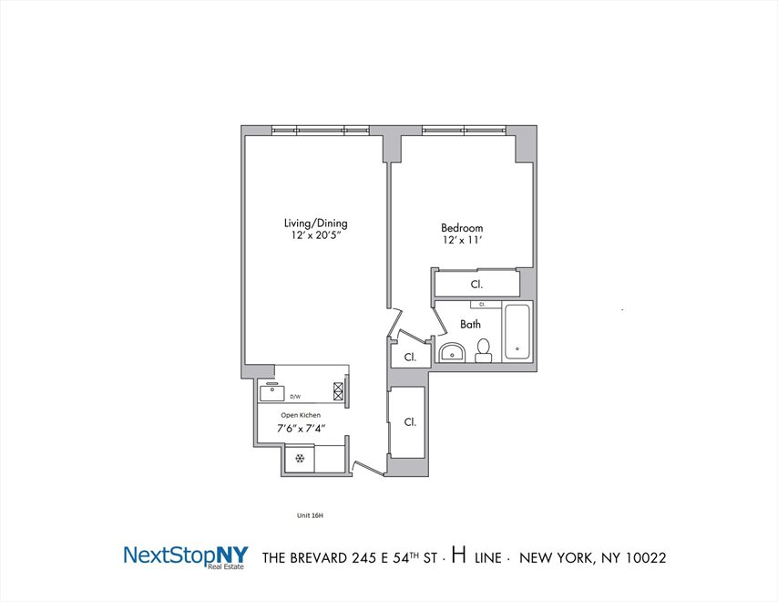 New York City Real Estate | View East 54th Street | Floorplan