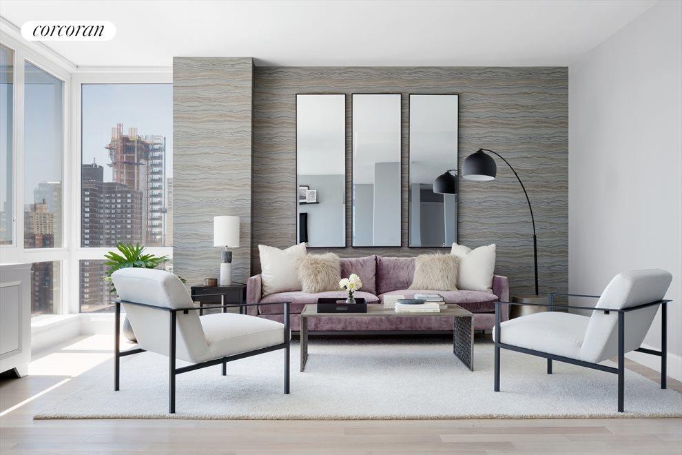 South facing living room w Empire State bldg views
