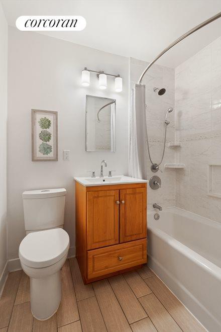 Bathroom with deep soaking tub