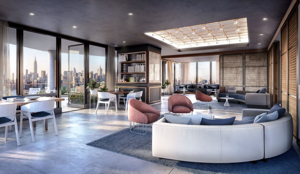 Waterfront Condo Lounge with Terrace