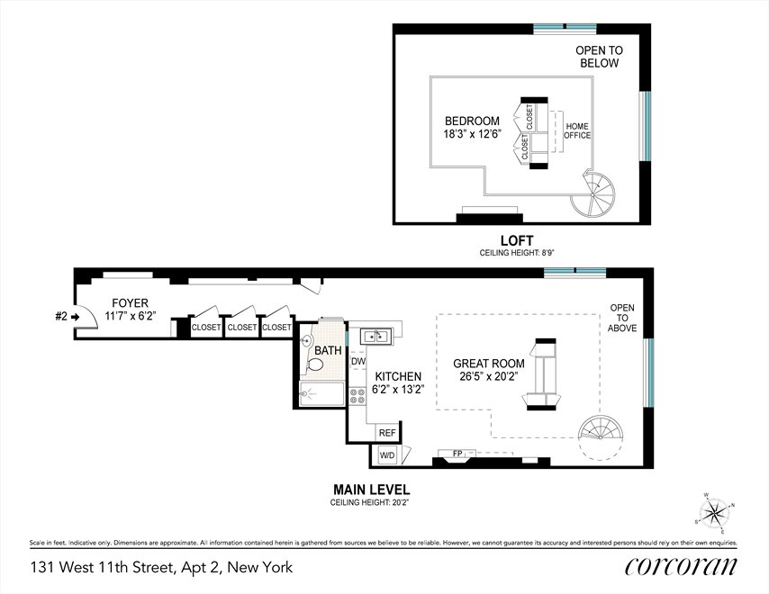New York City Real Estate | View 131 West 11th Street, #2 | Floorplan