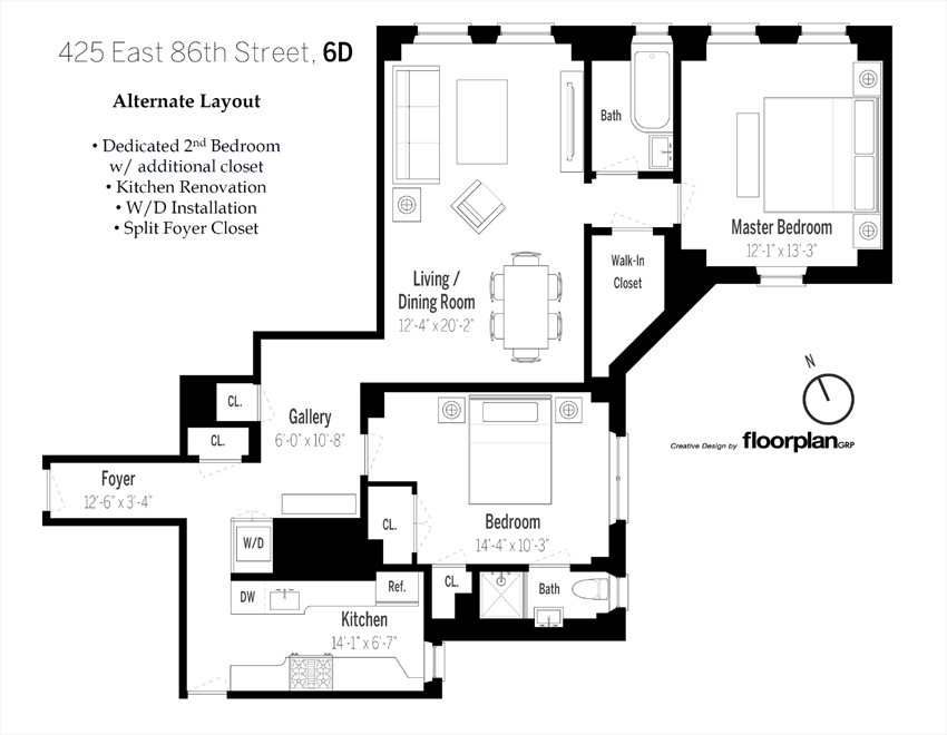 New York City Real Estate | View East 86th Street | Floorplan 2