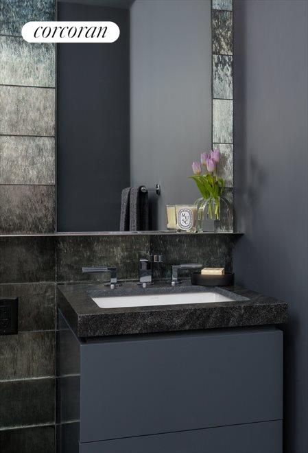 Nero Marquina Marble Bathroom