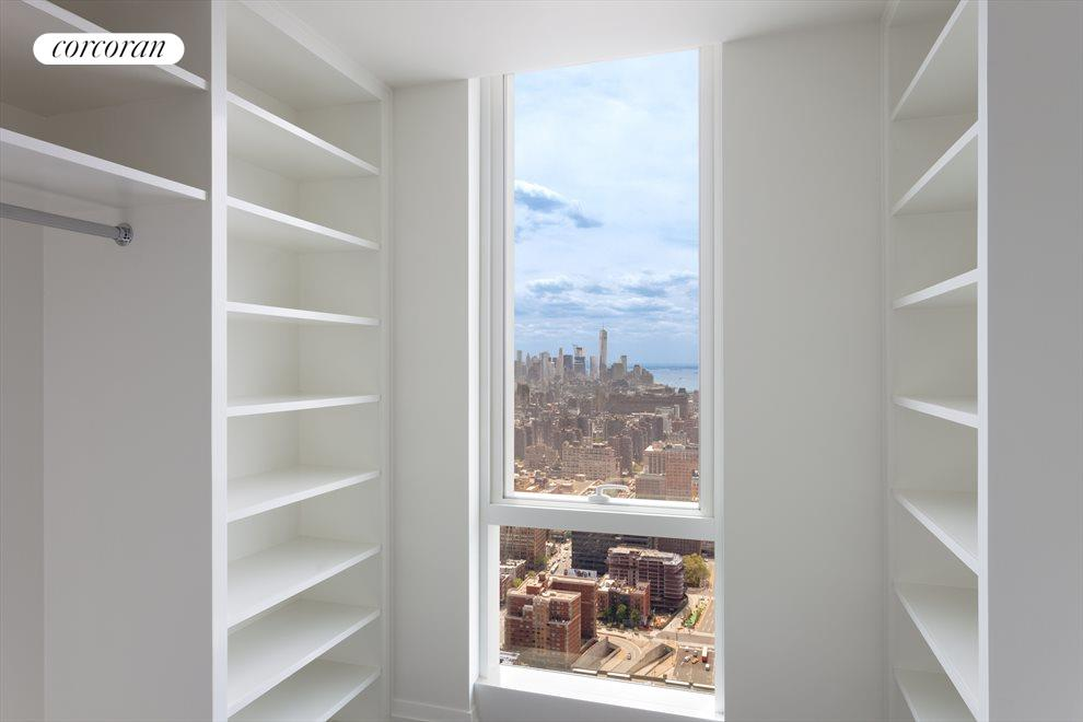 Walk-in Closet with Panoramic views