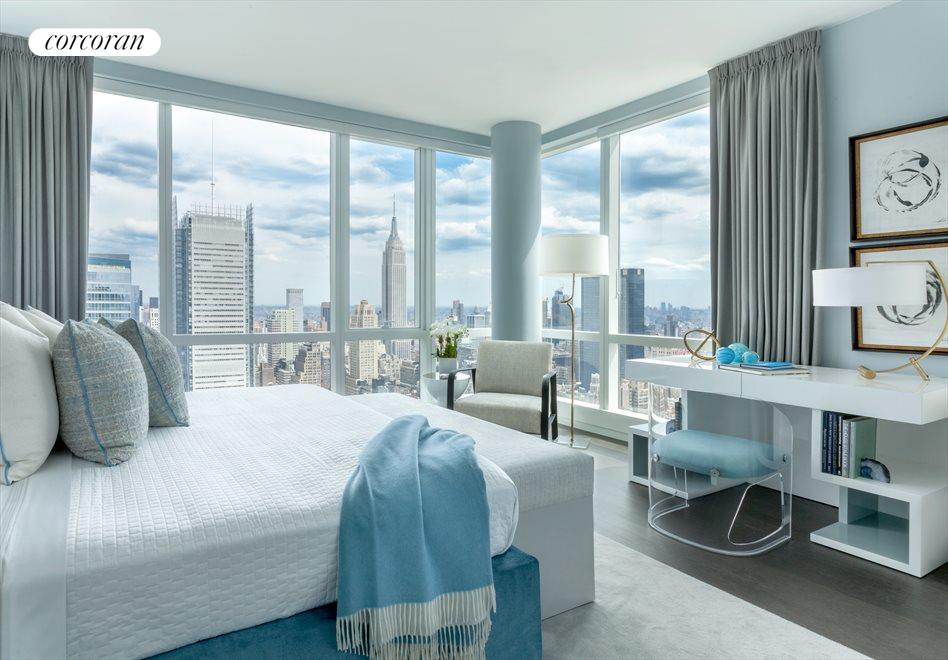 Master corner with Empire State Building views