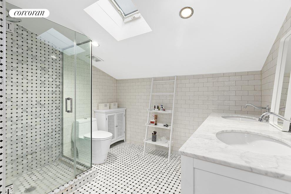 Spa-like bathroom with skylight!