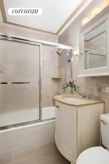 MBR renovated bathroom, one of total of 4 baths