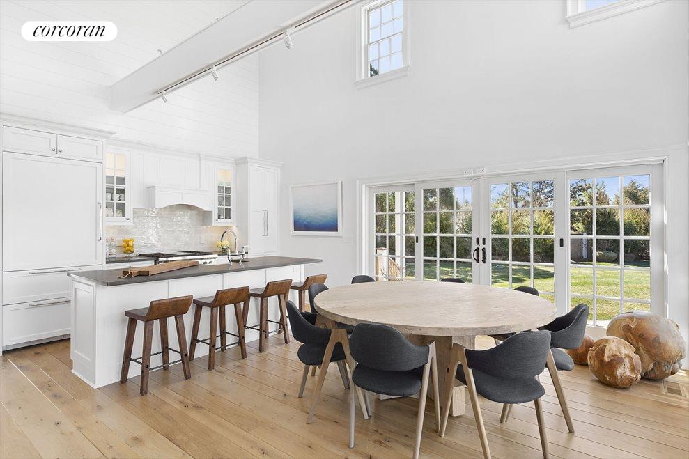 Custom gourmet kitchen with dining for 8