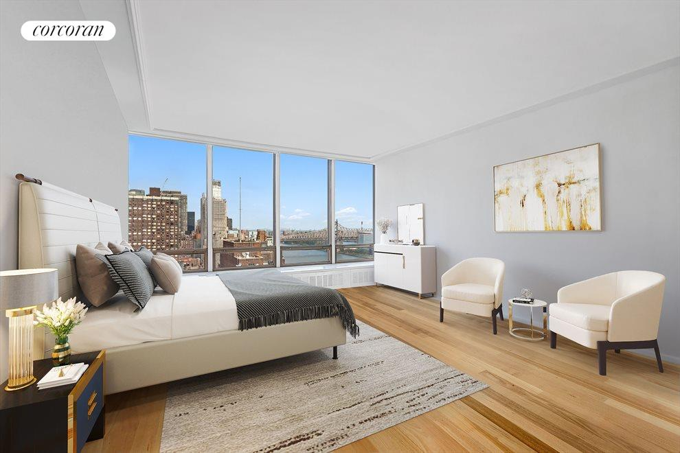 Large Master Bedroom With Open River Views