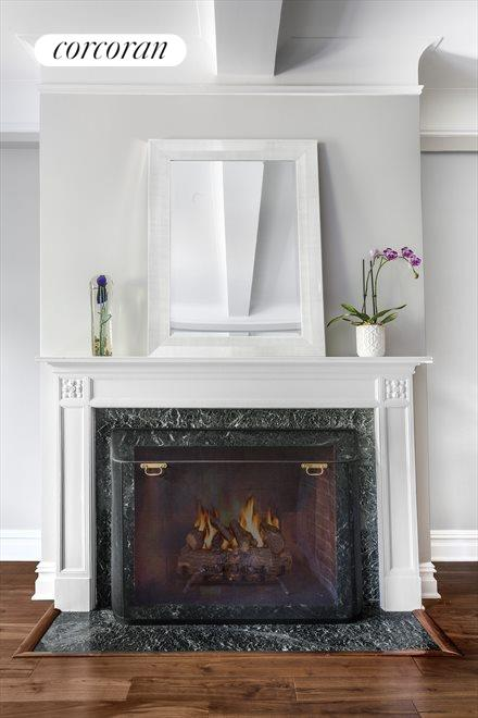 Classic Wood Burning Fireplace