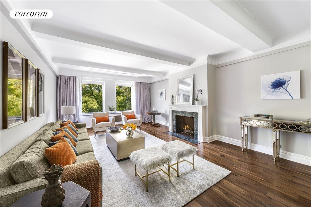 Gracious Living Room with Prewar Perfection!