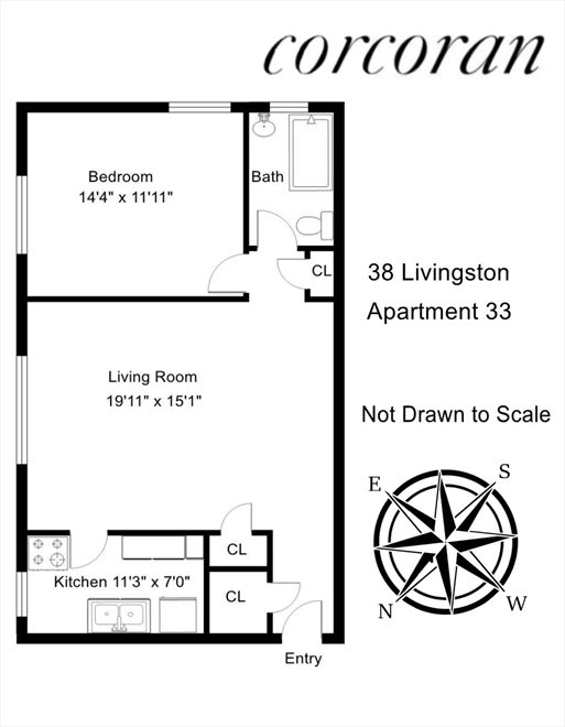 New York City Real Estate | View 38 Livingston Street, #33 | Floorplan
