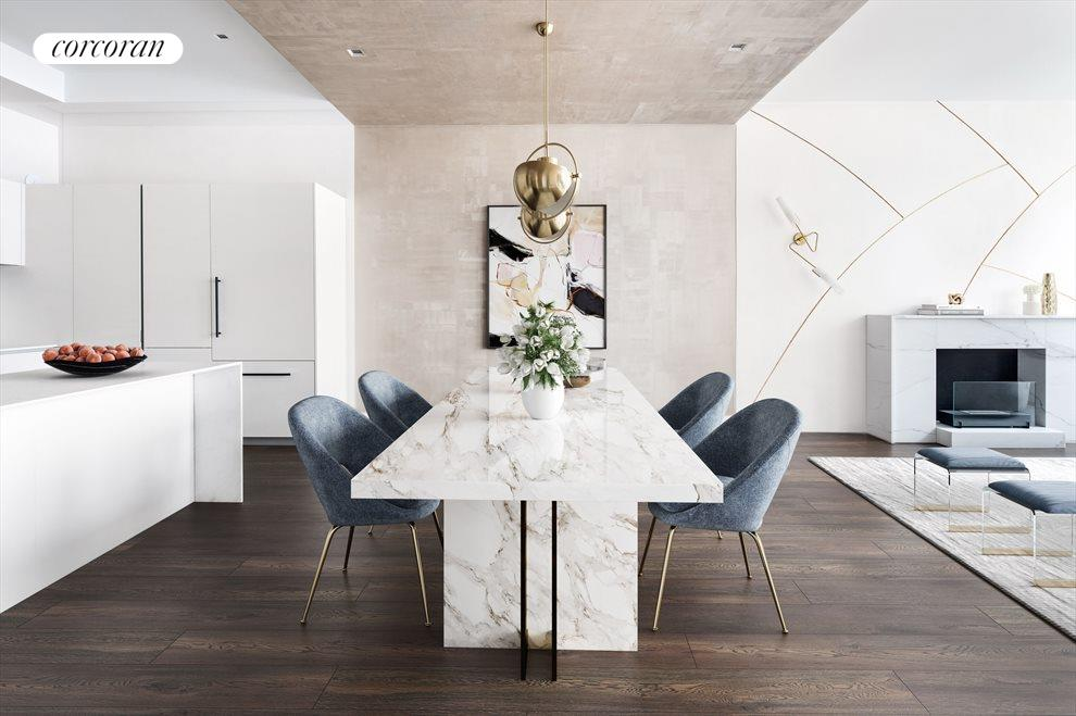 Open Concept-Customized Metallic Glaze Dining Area