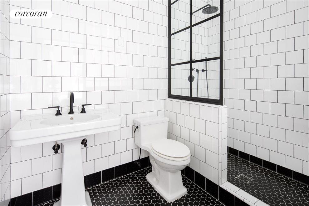 Black & White Floor-to-Ceiling Wall Tiles
