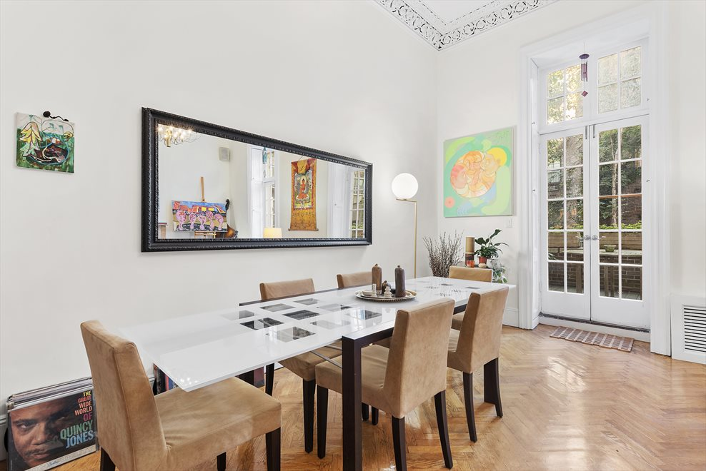 New York City Real Estate | View 137 East 15th Street, #1B | Dining with French Doors to the Terrace