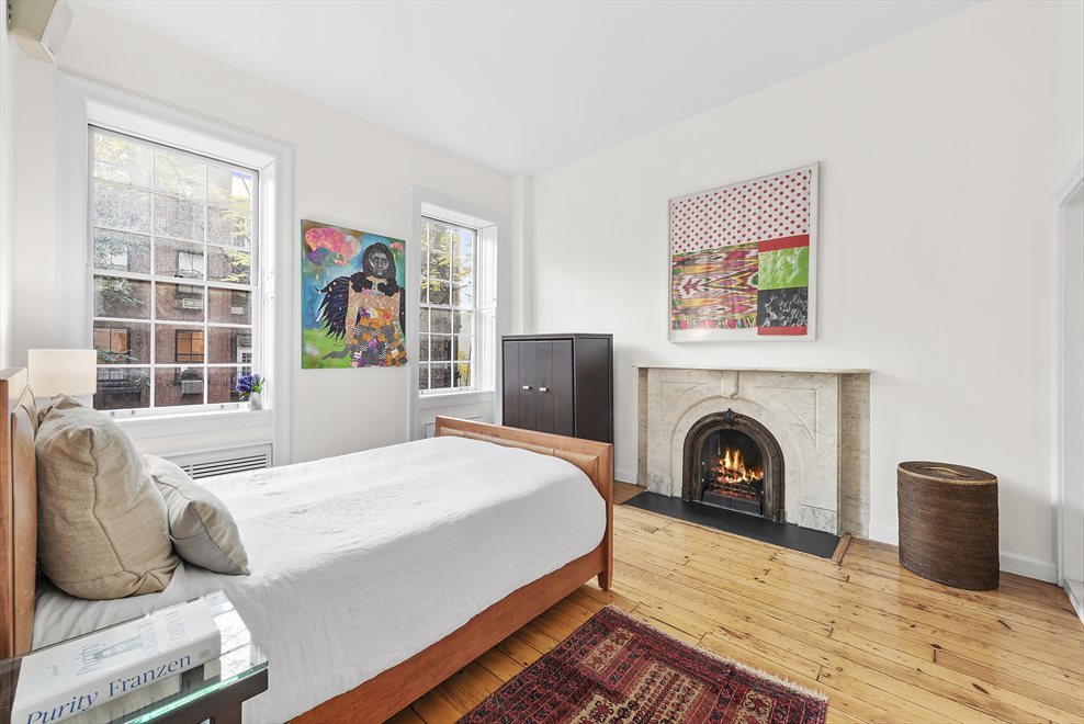 New York City Real Estate | View 137 East 15th Street, #1B | Master Bedroom with WBFP