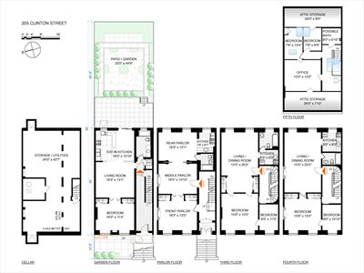 New York City Real Estate | View 205 Clinton Street | Floorplan