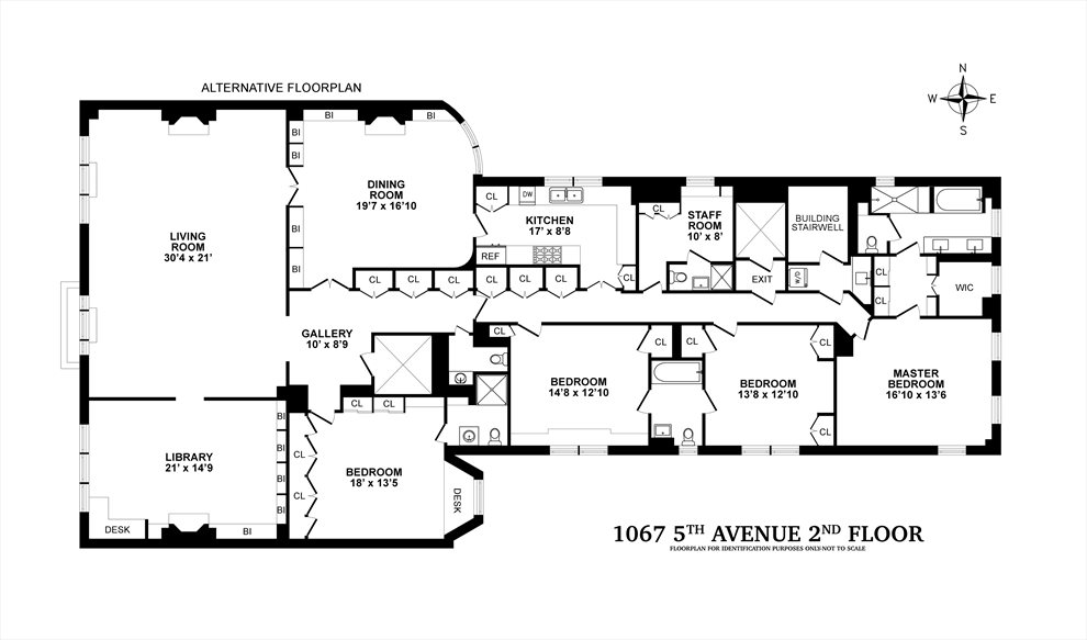 New York City Real Estate | View 1067 Fifth Avenue, #2 | Floorplan