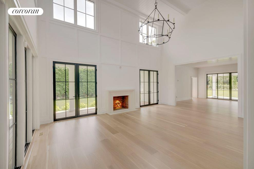Captivating space 2-story Great Room