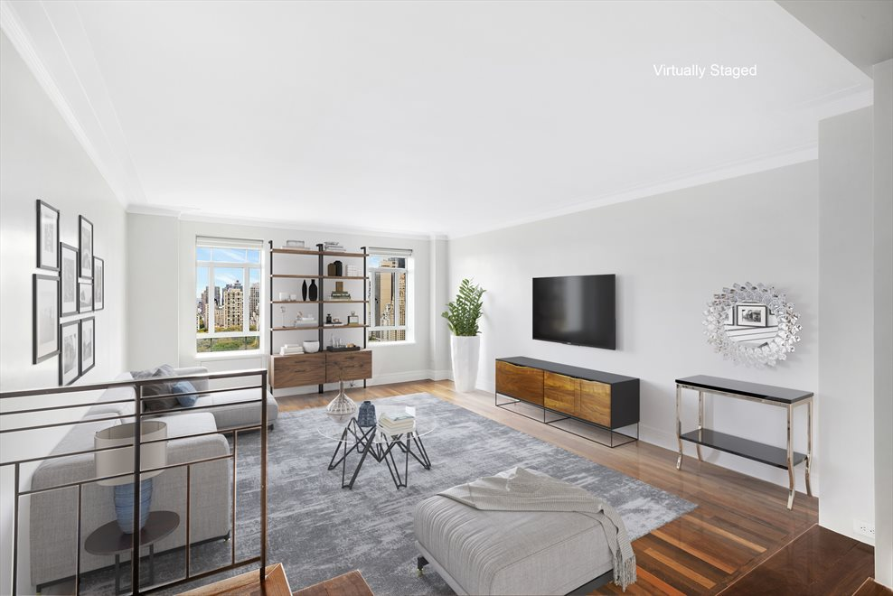 Living Room with Direct Central Park Views