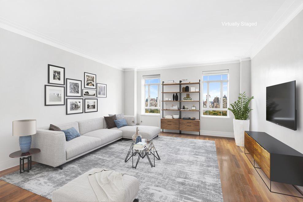 Living Room with new Walnut Floors