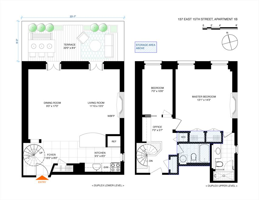 New York City Real Estate | View 137 East 15th Street, #1B | Floorplan