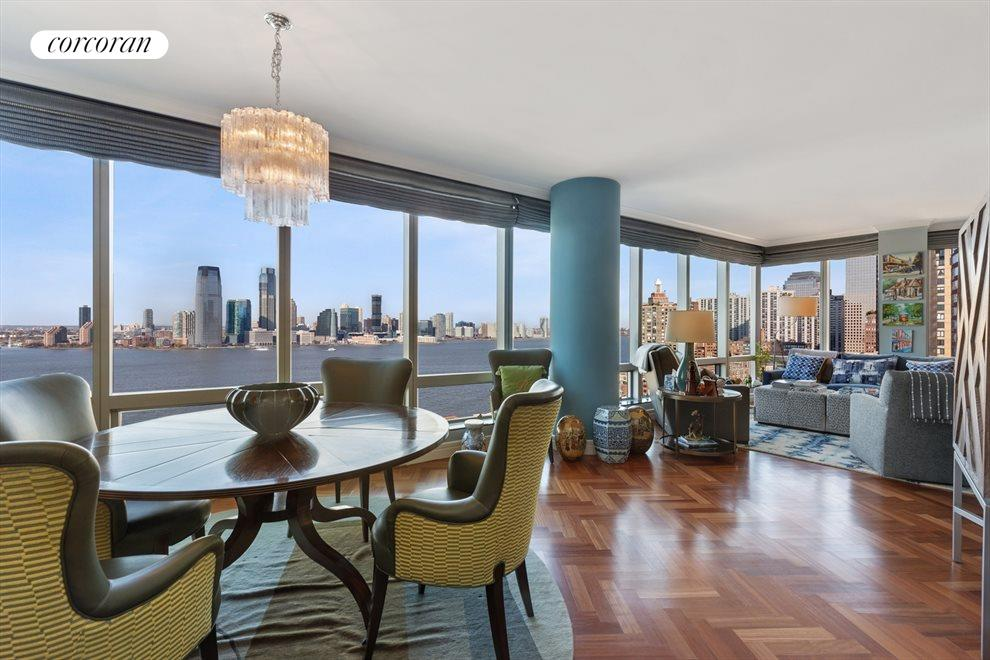 Living Room/Dining Room with Direct River Views