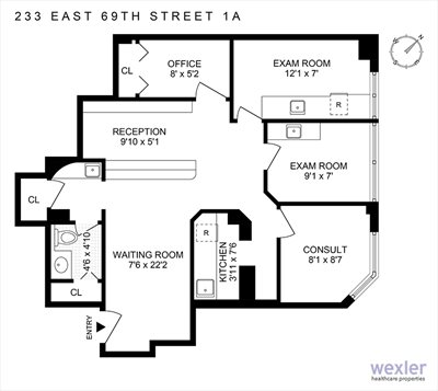 New York City Real Estate | View 233 East 69th Street | Floorplan