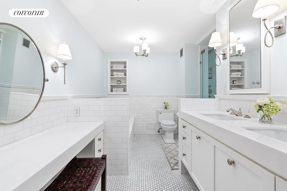 Luxurious Master Bathrm with double sinks & vanity