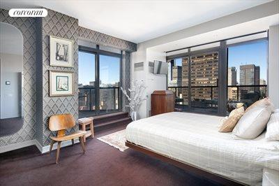 New York City Real Estate | View 100 United Nations Plaza, #50B | Corner 2nd bedroom with en suite bathroom