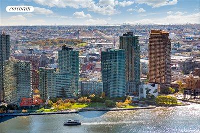New York City Real Estate | View 100 United Nations Plaza, #50B | Picturesque East River and Long Island City views