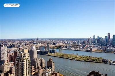 New York City Real Estate | View 100 United Nations Plaza, #50B | Spectacular East River and Queensboro Bridge views