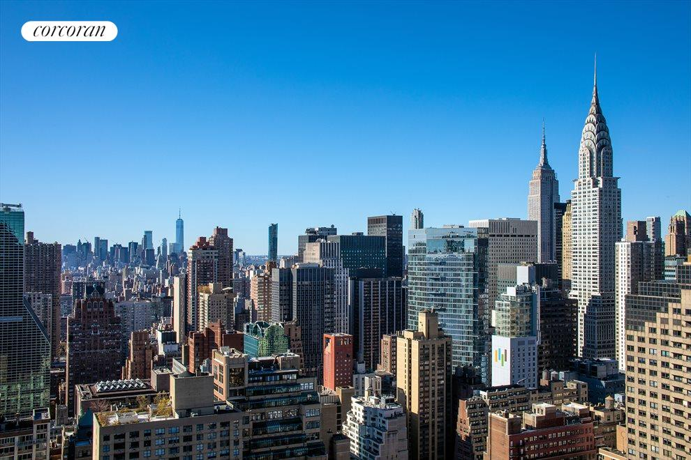 New York City Real Estate | View 100 United Nations Plaza, #50B | Panoramic city views to the south and west