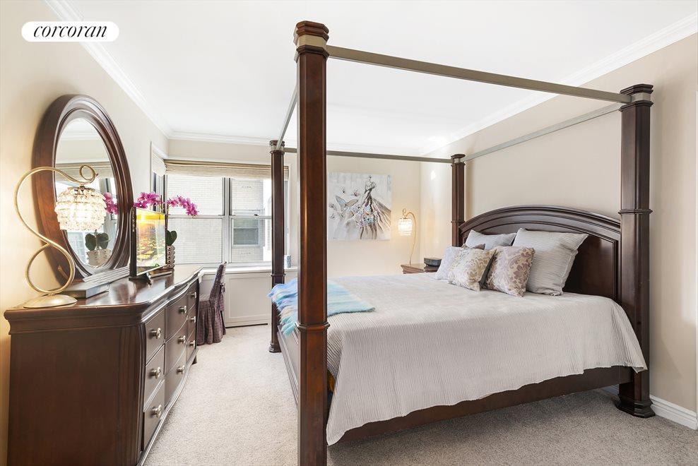 King-Size Bedroom with Corner Window