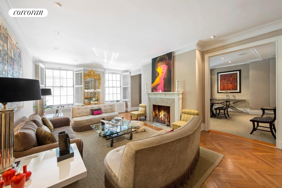 655 Park Avenue, 2B, Sophisticated Living Room with Wood-burning FP
