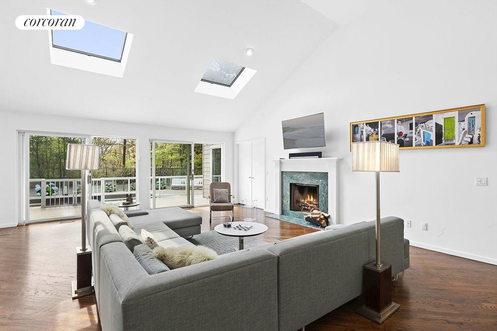 Open Floor Plan with Tons of Glass & Skylights