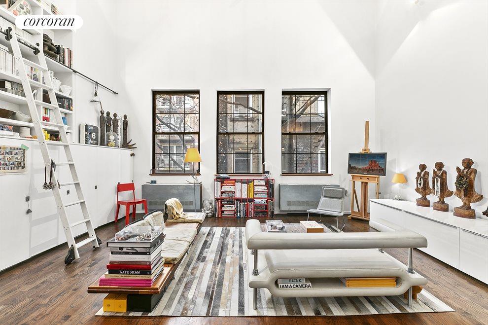 True Loft Living Room w/ Soaring 17.5' Ceilings