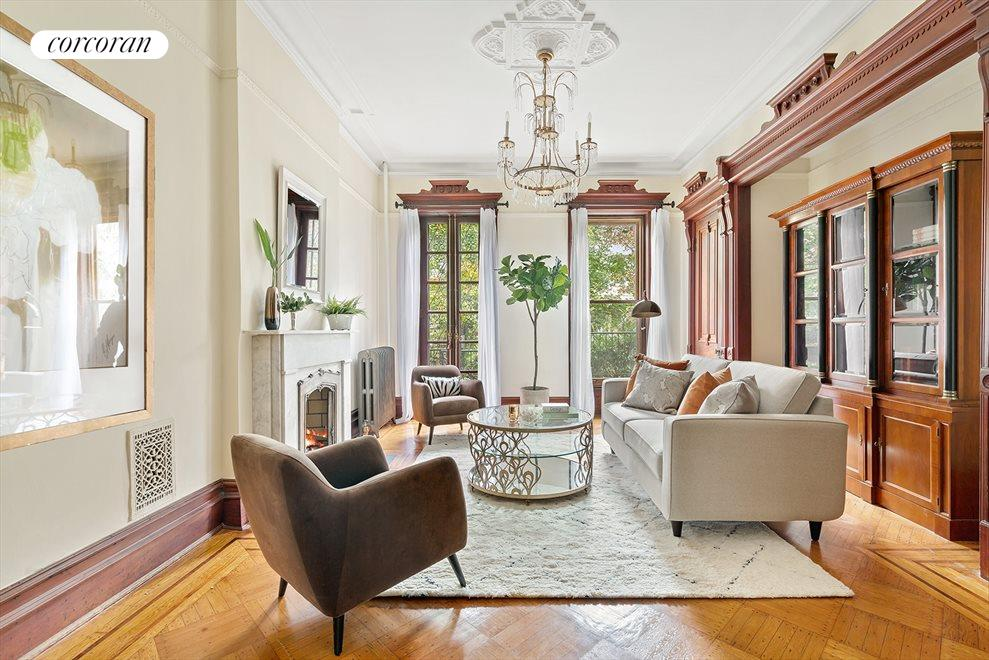New York City Real Estate | View 145 Berkeley Place | Parlor Livingroom