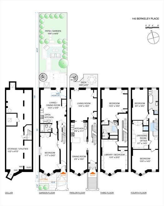 New York City Real Estate | View 145 Berkeley Place | Floorplan