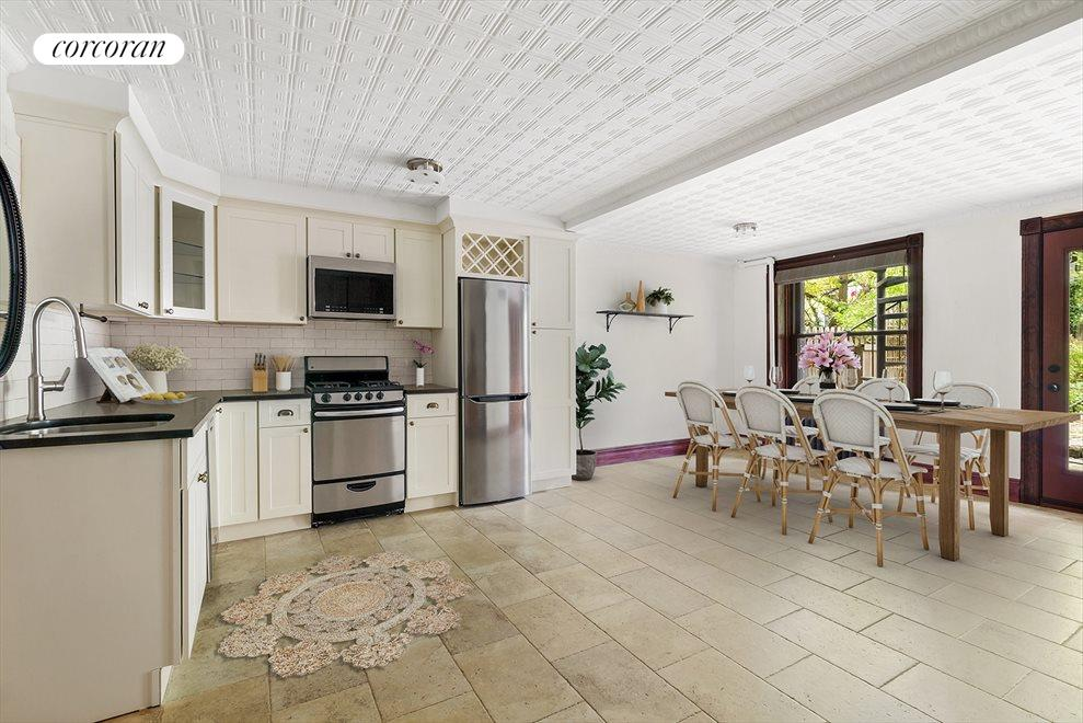 New York City Real Estate | View 145 Berkeley Place | Garden Level Eat-in Kitchen