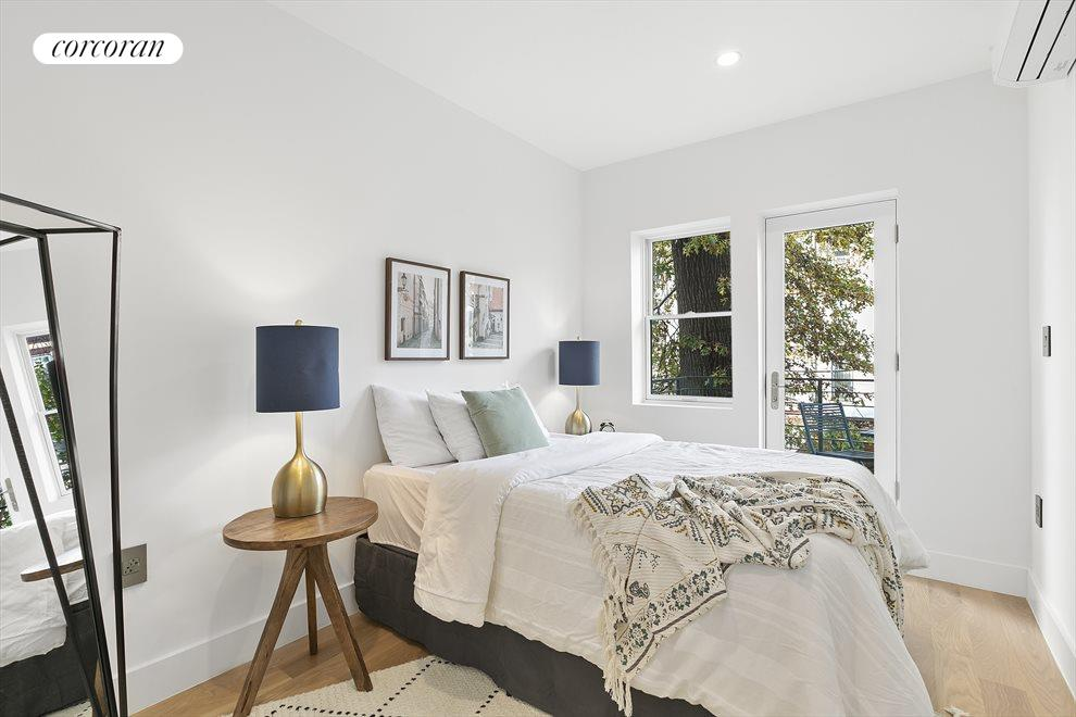 New York City Real Estate | View 213 Halsey Street, #2 | Incredible bedroom with balcony access