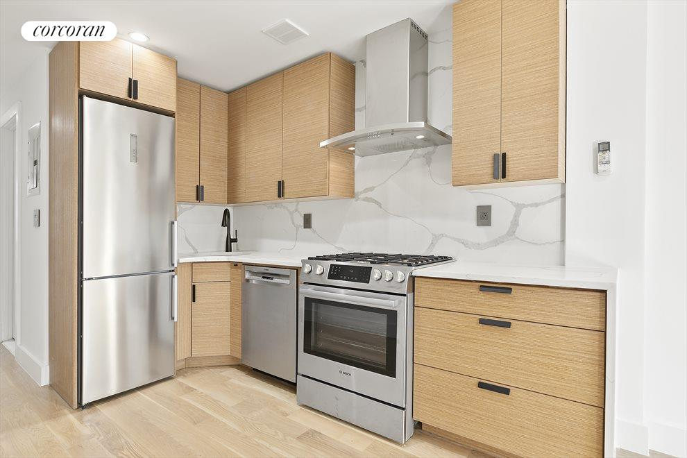 New York City Real Estate | View 213 Halsey Street, #2 | Wonderful kitchen with Bosch appliances