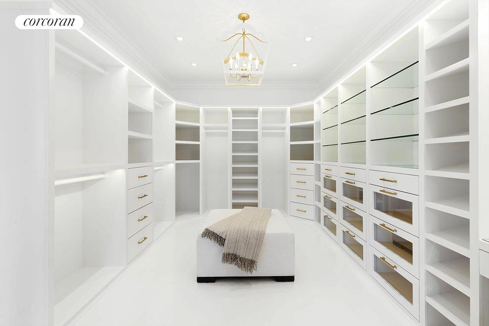 her master bedroom closet