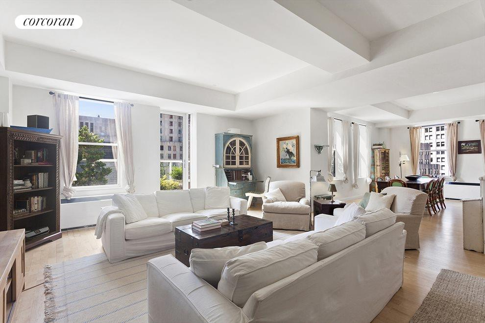 Sprawling Living room with