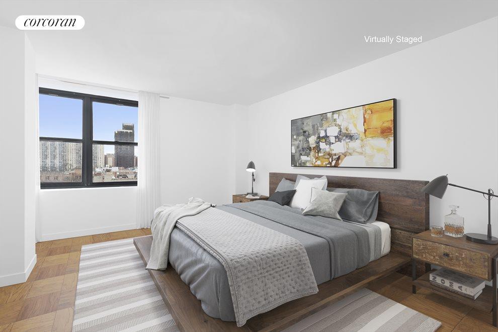 King sized bedroom with corner windows!