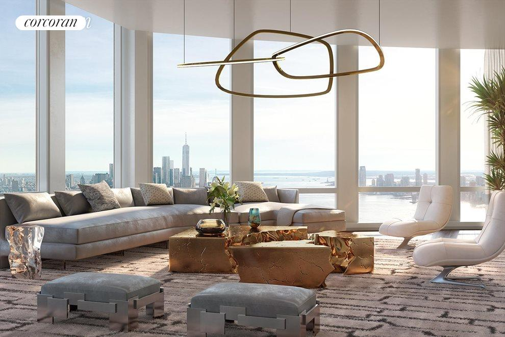 Great Room with Hudson River views