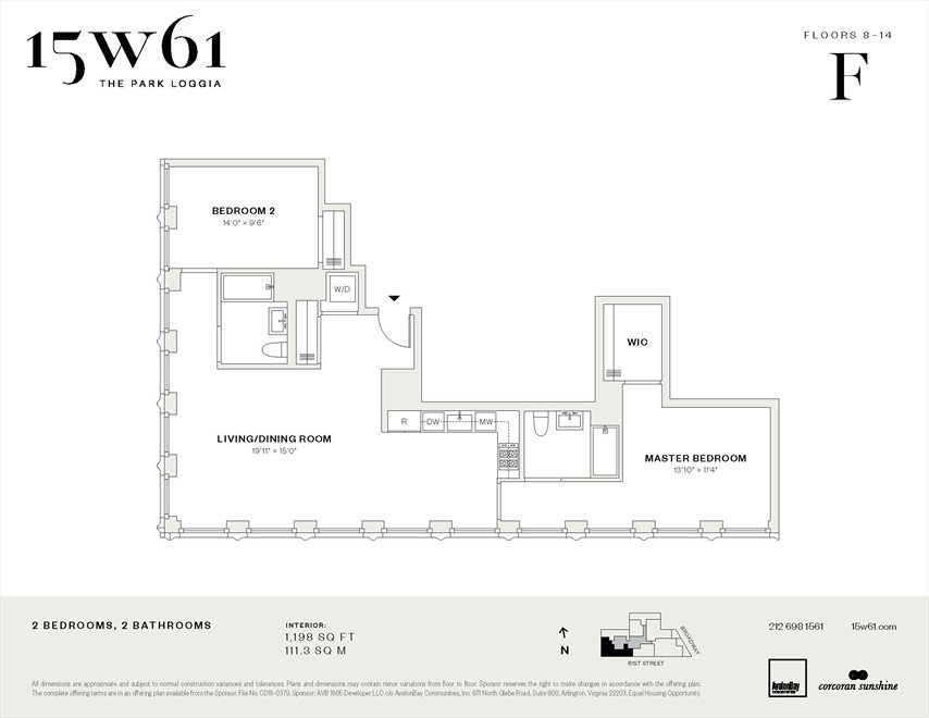New York City Real Estate | View 15 West 61st Street, #11F | Floorplan