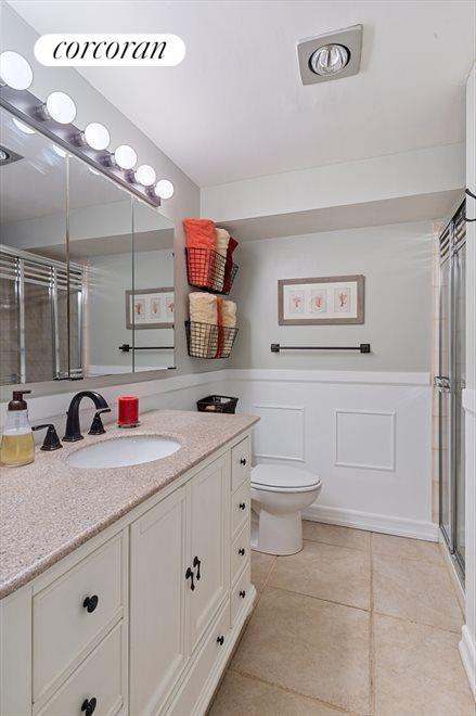 Newly renovated master bathroom