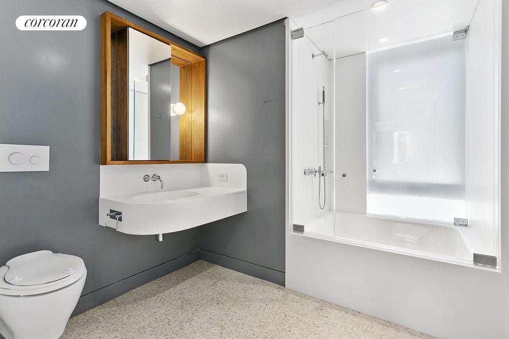 Spacious Windowed Second Bath has Elegant Fixtures